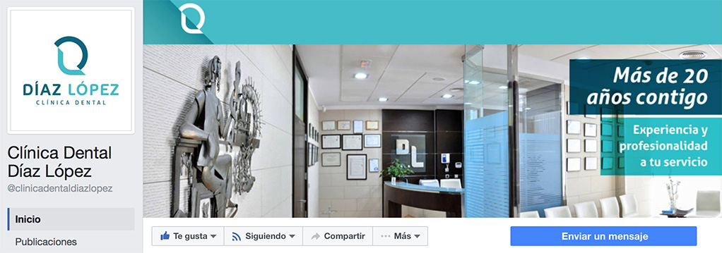 Facebook oficial de la Clínica Dental Díaz López ya disponible